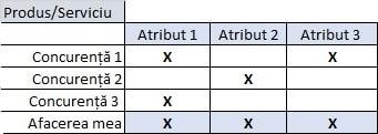 matrice avantaj competitiv