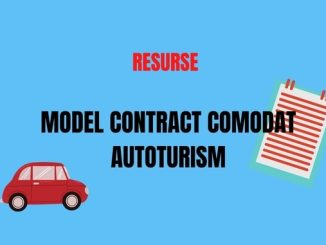Contract comodat auto